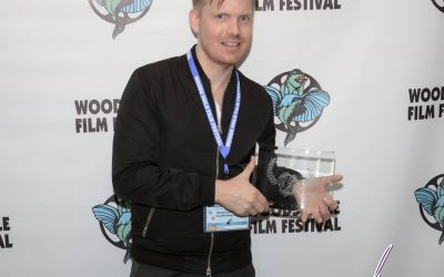 Hunter accepts Audience Award for Guys Reading Poems in Woods Hole