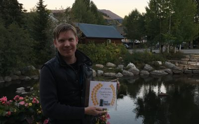 "Hunter accepts ""Creativity in Drama"" award at Breckenridge Film Festival"